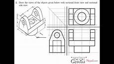 Engineering Drawing Tutorials Orthographic Drawing With