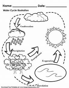 water cycle illustration worksheet