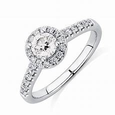 engagement ring with 0 80 carat tw of diamonds in 14ct