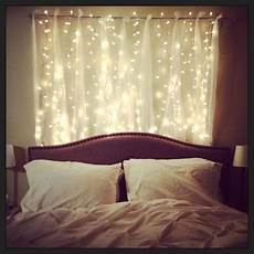 Bedroom Ideas For With Lights by Headboard With Lovely Strings Of Lights Bedroom