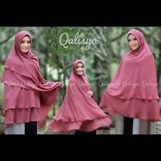 Jilbab Jumbo Syari 3 Layer Ceruti Cantik Okky By