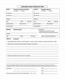 free 8 tenant complaint form sles in sle exle