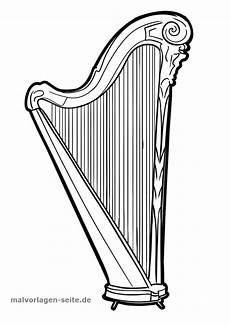 malvorlagen instrumente zum ausdrucken malvorlage harfe malvorlagen ausmalbilder und harfe