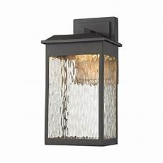 titan lighting newcastle led matte black outdoor wall sconce tn 75829 the home depot