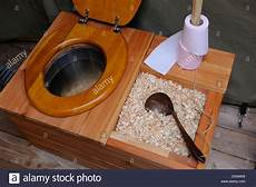 Ecological Toilet With Sawdust Compost In Lodge Tent