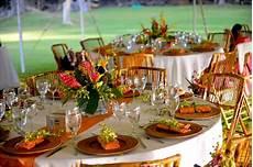 stunning orange and yellow tropical wedding reception