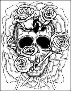 Ausmalbilder Erwachsene Totenkopf Skull Coloring Pages For Adults At Getcolorings Free