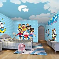 7 Gambar Wallpaper Dinding Kamar Tidur Anak Motif Doraemon