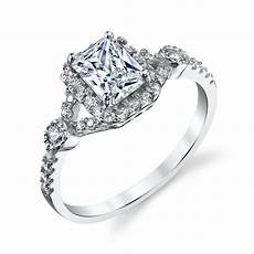 925 sterling silver radiant cz engagement wedding ring