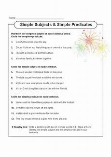 this printable worksheet gets students focusing on both simple and complete subjects and