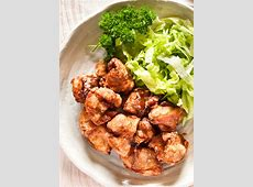 japanese fried chicken karaage with onion ginger relish_image