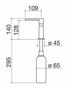 disegno tecnico dispense dispenser up barazza srl