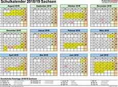 kalender 2018 sachsen schulkalender 2018 2019 sachsen f 252 r excel