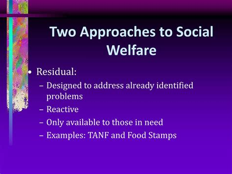 England Social Welfare System