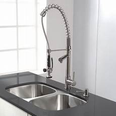 kraus commercial pre rinse chrome kitchen faucet kraus kpf 1602 chrome commercial style pre rinse kitchen faucet with pot filler faucetdirect