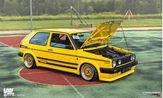 Golf 2 Bodykit - stanced volkswagen golf mk2 187 cartuning best car tuning