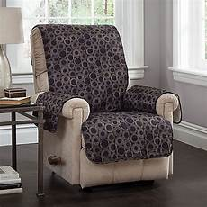 circles recliner and wing chair cover in black bed bath beyond