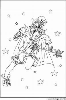 Zauberer Malvorlagen Pdf Bild Mit Einem Zauberer Als Gratis Vorlage