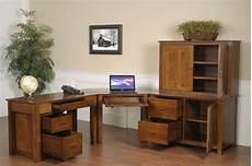 modular home office furniture collections mission modular corner desk in solid hardwood ohio