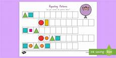 repeating shape patterns worksheets year 1 307 repeating pattern shapes and colours worksheet worksheet shapes maths