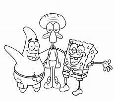 Gambar Mewarnai Kartun Spongebob Gambarkakak
