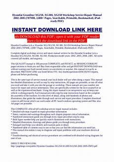 how to download repair manuals 2003 hyundai xg350 spare parts catalogs hyundai grandeur xg250 xg300 xg350 workshop service repair manual 2