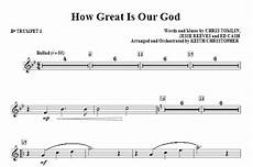 how great is our god bb trumpet 1 sheet music direct