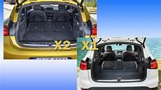 bmw x2 kofferraum bmw x2 und bmw x1 im vergleich