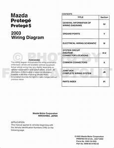 2003 Mazda Protege And Protege5 Wiring Diagram Manual Original