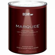 behr marquee 1 qt ultra pure white matte interior paint with primer 145004 the home depot