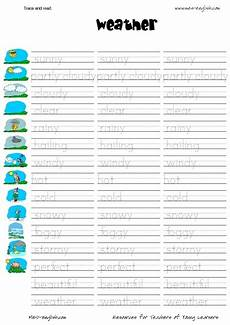 weather tracing worksheets 14689 trace and read weather worksheet for kindergarten 3rd grade lesson planet