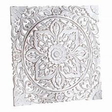 wand deko quot holz ornamentik quot wei 223 60x60 cm geschnitzt
