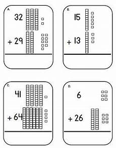 subtraction with regrouping worksheets with base ten blocks 10608 place value base ten block and cubes addition task cards adding tens center 2nd grade