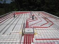 insulated slab grade foundation forms radiant heated icf floors passive house zne nzeb leed