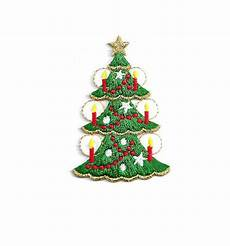 applique iron on christmastree w candles embroidered iron on