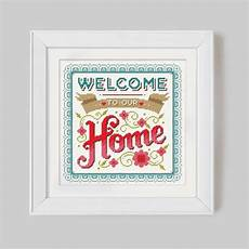 welcome to our home brights cross stitch pattern digital