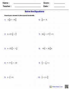 fraction algebra equations worksheets 3926 pre algebra worksheets dynamically created pre algebra worksheets