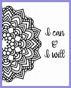 motivational mandala free coloring pages dessin a