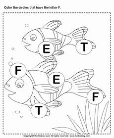 identifying letter e worksheets 24108 identifying letter f worksheet turtle diary