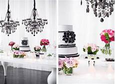 classic black and white winter wedding color scheme tulle chantilly wedding blog