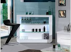 Sciae Floyd Contemporary High Gloss White Drinks Cabinet
