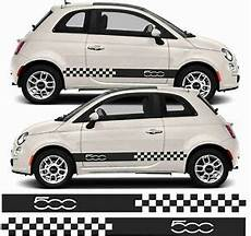 fiat 500 sport 500c collezione side stripes graphics