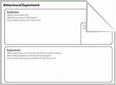 behavioural experiments worksheets 12670 behavioral therapy and cognitive behavioral therapy on