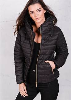 lightweight quilted puffer padded jacket coat black