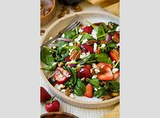 delicious easy spinach and strawberry salad with feta_image