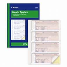 blueline security receipt forms book walmart canada