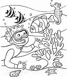 Unterwasserwelt Malvorlagen Underwater Coloring Pages To And Print For Free