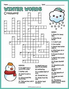 winter crossword worksheets 19981 winter crossword puzzle worksheet by puzzles to print tpt