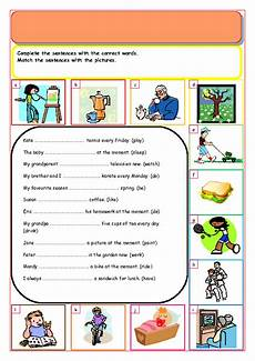 184 free present simple present continuous worksheets