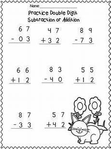 1st grade math worksheet subtraction with regrouping digit adding subtracting w no regrouping